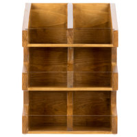 Cal-Mil 2054-99 Madera Reclaimed Wood 3 Tier, 6 Bin Condiment Display with Clear Bin Face - 11 inch x 7 inch x 16 inch