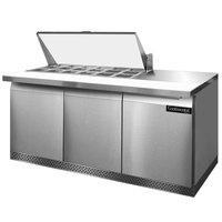 Continental Refrigerator SW72-18M-FB 72 inch Mighty Top Front Breathing Sandwich / Salad Prep Refrigerator