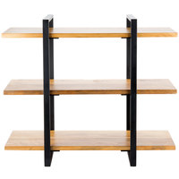 Cal-Mil 1940-99 Madera Reclaimed Wood 3-Shelf Metal Frame Riser with Black Frame - 28 inch x 12 inch x 24 inch