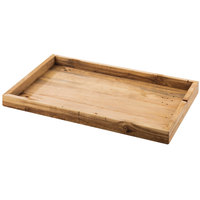 Cal-Mil 1367-12-99 Madera 19 3/4 inch x 11 3/4 inch x 1 1/4 inch Reclaimed Wood Serving Tray