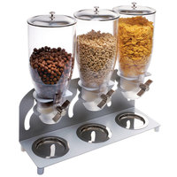 Cal-Mil 3510-3-39 Platinum Turn and Serve 3 Cylinder Cereal Dispenser - 18 1/2 inch x 6 inch x 17 3/4 inch