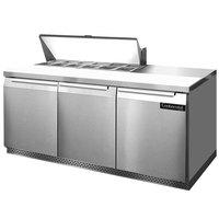 Continental Refrigerator SW72-12-FB 72 inch Front Breathing Sandwich / Salad Prep Refrigerator