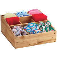 Cal-Mil 1714-99 Madera 9 Compartment Reclaimed Wood Condiment Organizer - 12 inch x 12 inch x 5 1/2 inch