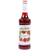 Monin 750 mL Premium Pomegranate Flavoring / Fruit Syrup