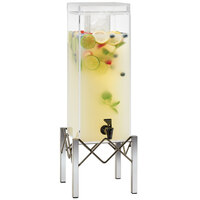Cal-Mil 3436-3INF Industrial 3 Gallon Beverage Dispenser with Infusion Chamber - 8 1/2 inch x 8 3/4 inch x 26 inch