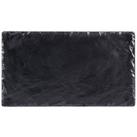 Cal-Mil 1522-712-65M 12 inch x 6 3/4 inch Rectangular Faux Slate Serving Platter