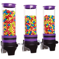 Cal-Mil 3525-3-79 Purple 3 Cylinder Topping Click Dispenser - 15 3/4 inch x 7 1/4 inch x 12 inch
