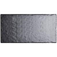 Cal-Mil 1522-1020-65M 20 inch x 10 inch Rectangular Faux Slate Serving Platter