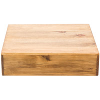Cal-Mil 432-3-99 Madera Reclaimed Wood Square Riser - 12 inch x 12 inch x 3 1/4 inch