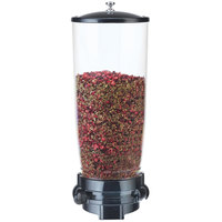 Cal-Mil 3523-1-13 Black Wall Mount 5 Liter Tea Leaf and Topping Dispenser - 6 inch x 6 inch x 16 inch