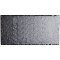 Cal-Mil 1522-1014-65M 14 inch x 10 inch Rectangular Faux Slate Serving Platter