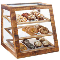 Cal-Mil 3432-S-99 Madera Reclaimed Wood 3 Tier Slanted Self Serve Bakery Case - 21 inch x 21 1/2 inch x 21 1/2 inch