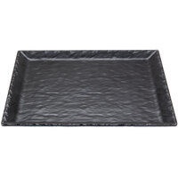 Cal-Mil 3459-1515-65M 15 inch Square Faux Slate Platter with Raised Rim