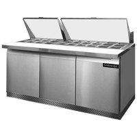 Continental Refrigerator SW72-30M-FB 72 inch Mighty Top Front Breathing Sandwich / Salad Prep Refrigerator