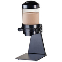 Cal-Mil 3522-1-13 Black Freestanding 1.5 Liter Powder Dispenser - 6 1/4 inch x 8 inch x 16 1/4 inch