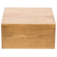 Cal-Mil 432-6-99 Madera Reclaimed Wood Square Riser - 12 inch x 12 inch x 6 inch