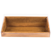 Cal-Mil 1332-12-99 Madera Reclaimed Wood Display Bin with Clear Lid - 20 inch x 11 inch x 6 1/2 inch