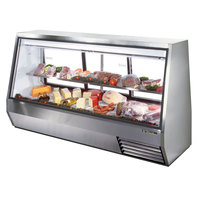 True TDBD-96-3 96 inch Three Door Double Duty Refrigerated Deli Case - 63.5 Cu. Ft.