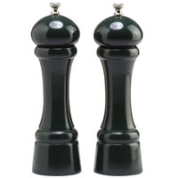 Chef Specialties 08802 Professional Series 8 inch Customizable Autumn Hues Forest Green Pepper Mill and Salt Mill Set
