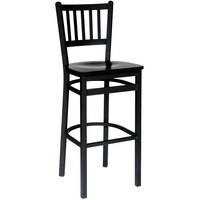 BFM Seating 2090BBLW-SB Troy Sand Black Metal Bar Height Chair