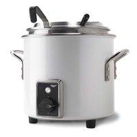 Vollrath 7217750 Pearl White Finish Retro 7 qt. Stock Pot Kettle Rethermalizer - 120V, 1450W