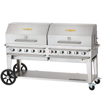 Crown Verity RCB-72RDP 72 inch Pro Series Outdoor Rental Grill with Roll Dome Package