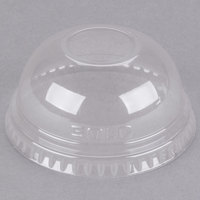 Dart Solo DLR685 7 oz. Clear PET Plastic Dome Lid with 1 inch Hole - 125/Pack