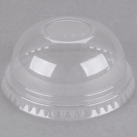 Dart Solo DNR685 7 oz. Clear PET Plastic Dome Lid - 125/Pack