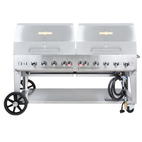 Crown Verity MCB-72RDP 72 inch Mobile Outdoor Grill with Roll Dome Package