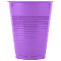 Creative Converting 318922 16 oz. Amethyst Purple Plastic Cup - 240/Case