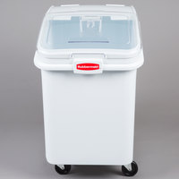 Rubbermaid FG360388WHT ProSave 30.8 Gallon Ingredient Storage Bin with 32 oz. Scoop