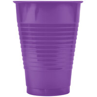Creative Converting 318921 12 oz. Amethyst Plastic Cup - 240/Case