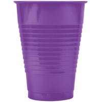 Creative Converting 318921 12 oz. Amethyst Purple Plastic Cup - 240/Case