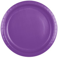 Creative Converting 318915 10 inch Amethyst Paper Banquet Plate - 240/Case