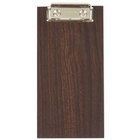 American Metalcraft CB8 8 inch x 4 1/2 inch Espresso Wood Menu Holder / Check Presenter with Clip