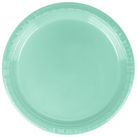 Creative Converting 318877 7 inch Fresh Mint Green Plastic Plate - 240/Case