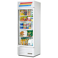 True GDM-19T-HC-LD 27 inch White Refrigerated Glass Door Merchandiser with LED Lighting - 19 Cu. Ft.
