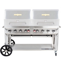 Crown Verity RCB-60RDP-SI-LP 60 inch Pro Series Outdoor Rental Grill with Single Gas Connection and Roll Dome Package