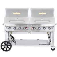 Crown Verity RCB-60RDP 60 inch Pro Series Outdoor Rental Grill with Roll Dome Package