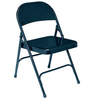 National Public Seating 54 Char-Blue Metal Folding Chair