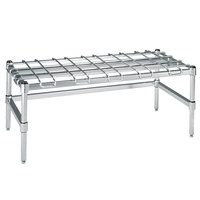 Metro HDP55S 24 inch x 48 inch x 16 1/4 inch Super Heavy Duty Stainless Steel Dunnage Rack with Wire Mat - 3000 lb. Capacity