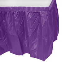 Creative Converting 318931 14' x 29 inch Amethyst Plastic Table Skirt