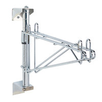 Metro AW41C Super Erecta Chrome Single Level Post-Type Wall Mount Mid Unit for 21 inch Deep Shelf