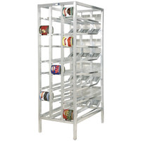 Channel CSR-156 Full Size Stationary Front Loading First In, First Out Aluminum Can Rack for (156) #10 Cans