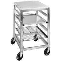 Channel BPRE6/P 7 Pan End Load Half Height Prep Top Sheet / Bun Pan Rack - Assembled