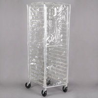 "Regency 63"" Clear 14 Mil Plastic Bun Pan Rack Cover"