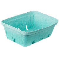 2 Qt. Green Molded Pulp Berry / Produce Basket - 200 / Case
