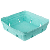 EcoChoice 1.5 Qt. Green Molded Pulp Berry / Produce Basket - 10 / Pack