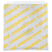 Carnival King 6 inch x 1 inch x 6 1/2 inch Large Cheeseburger Bag - 1000 / Case