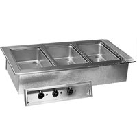 Delfield N8745-D Three Pan Drop In Hot Food Well